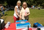Helen (Chairman) and Shirley our Judge and (past rescue co-ordinator) cutting the cake